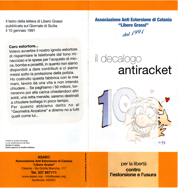 Decalogo antiracket antiusura